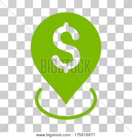 Bank Placement icon. Vector illustration style is flat iconic symbol eco green color transparent background. Designed for web and software interfaces.