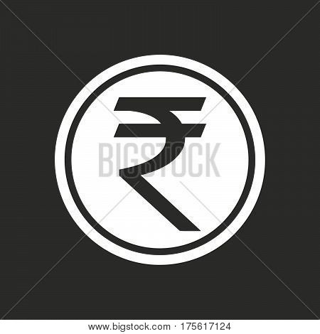 Illustration Of  A Rupee Coin