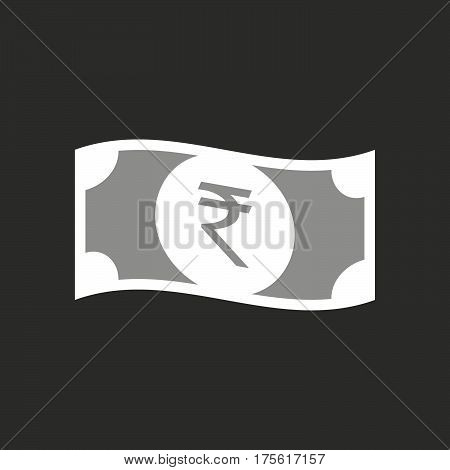 Illustration Of  A Rupee Bank Note