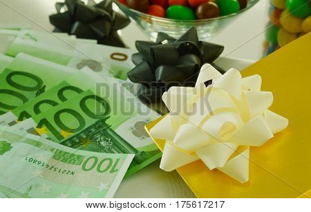 Christmas and New Year is time to spend money poster