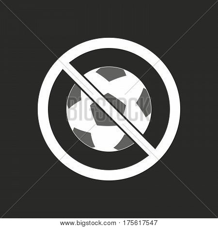 Isolated Vector Illustration Of  A Soccer Ball  In A Not Allowed Signal