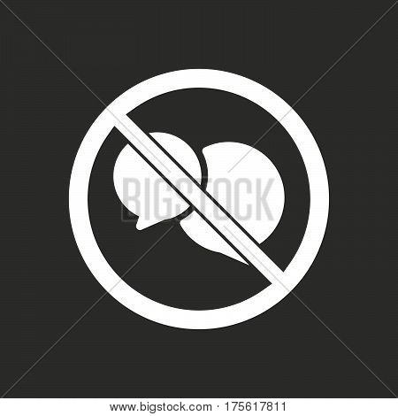 Isolated Vector Illustration Of  Two Comic Balloons  In A Not Allowed Signal
