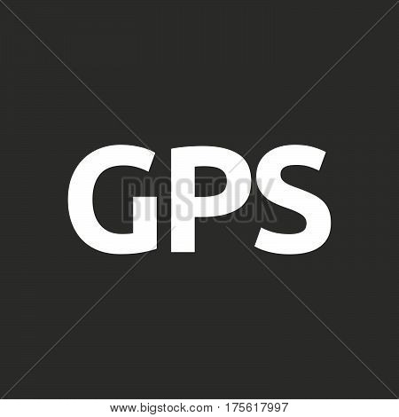 Isolated Vector Illustration Of  The Global Positioning System Acronym Gps