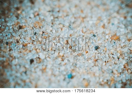Sand macro super close-up view. Magnification about 100 times.