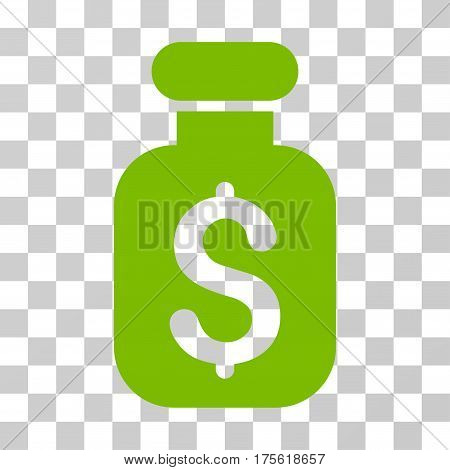 Business Remedy icon. Vector illustration style is flat iconic symbol eco green color transparent background. Designed for web and software interfaces.