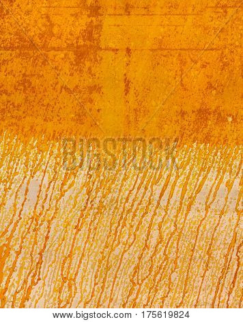 The Texture Of The Rusty Metal Is Orange With Divorces From The Runoff Of Water.