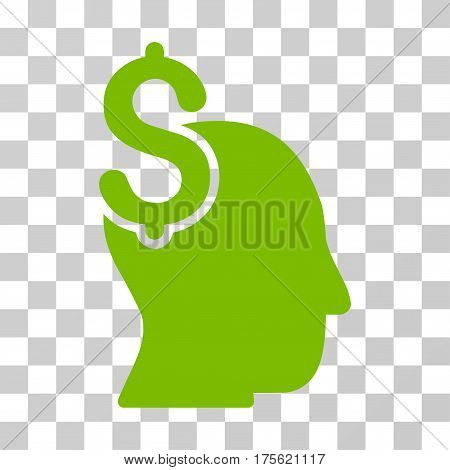 Commercial Intellect icon. Vector illustration style is flat iconic symbol eco green color transparent background. Designed for web and software interfaces.