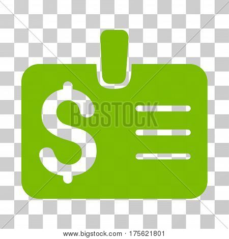 Dollar Badge icon. Vector illustration style is flat iconic symbol eco green color transparent background. Designed for web and software interfaces.