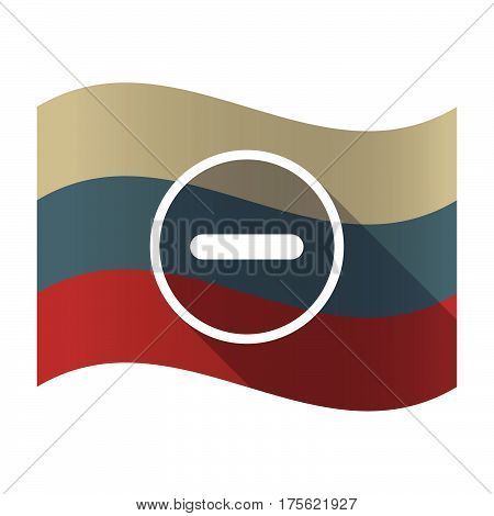 Long Shadow Russia Flag With A Subtraction Sign