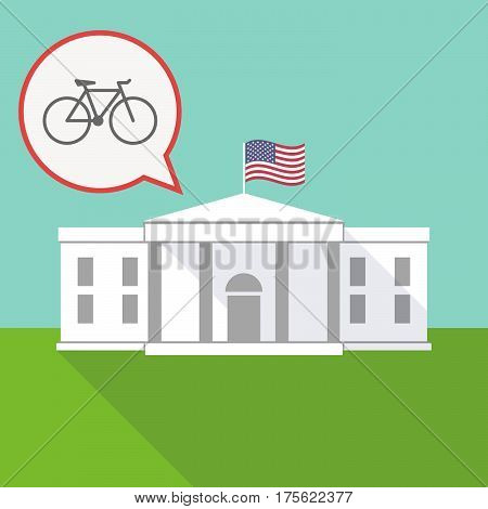 The White House With A Balloon And A Bicycle