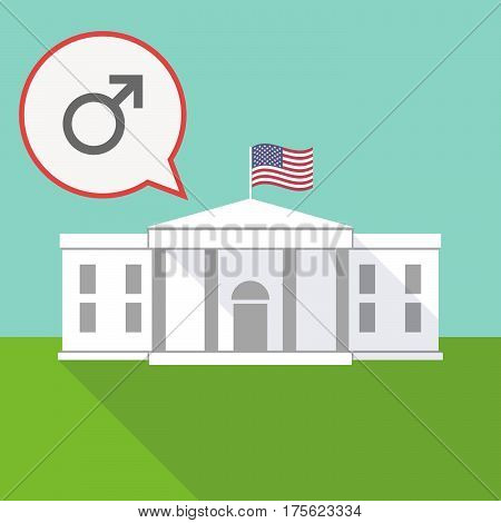 The White House With A Balloon And A Male Sign