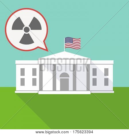 The White House With A Balloon And A Radio Activity Sign