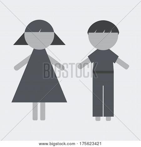 Vector Girl and Boy Icons for yor design