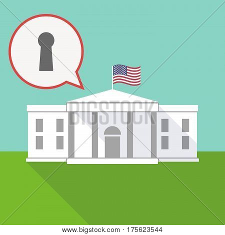 The White House With A Balloon And A Key Hole