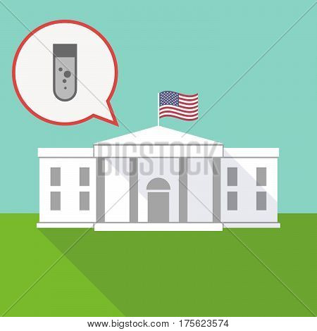 The White House With A Balloon And A Chemical Test Tube