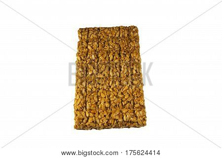 Brittles With Sunflower Seeds Isolated On White Background