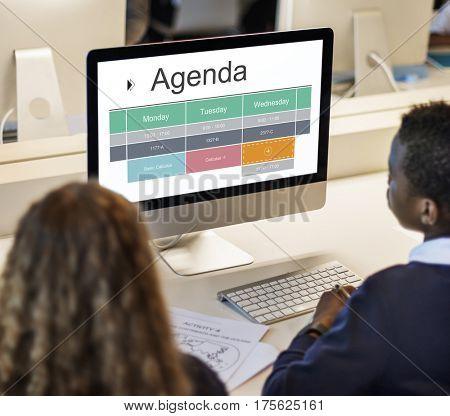 Agenda Personal Organizer Planner Schedule