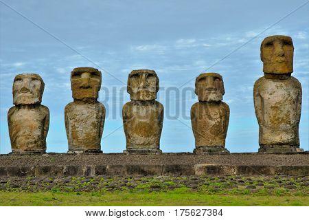 Tongariki Moai Platform