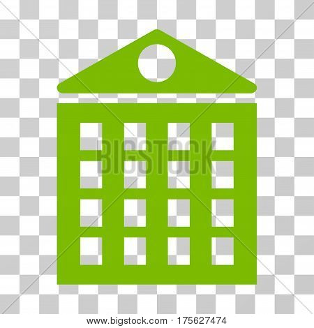 Multi-Storey House icon. Vector illustration style is flat iconic symbol eco green color transparent background. Designed for web and software interfaces.