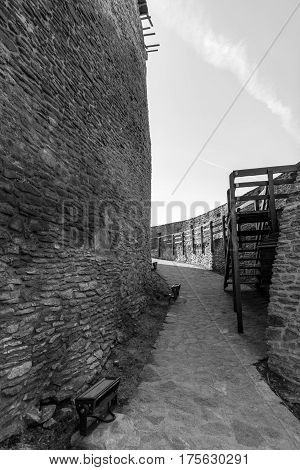 Black and white vision Inside the old Deva fortress