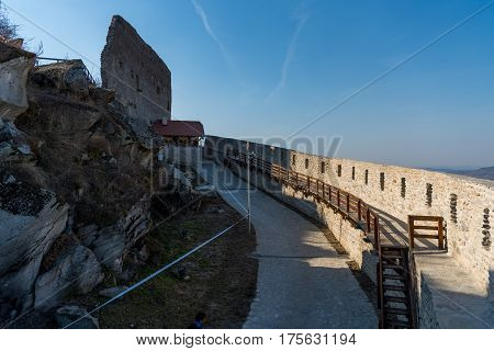 Old medieval fort in Deva from Romania