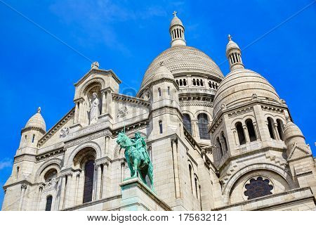Sacre Coeur Basilique in Montmartre Paris at France