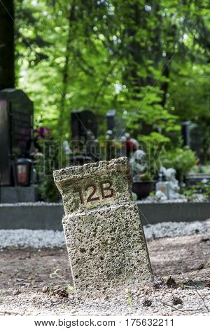 numbered grave site
