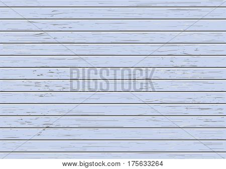 Vector blue wood texture deck. Boards with wooden pattern. Flat view. Stock illustration