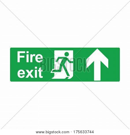 Emergency exit or fire exit sign vector design isolated on white background