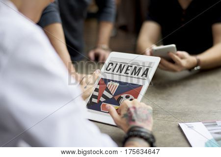 Cinema film industry media entertainment composition