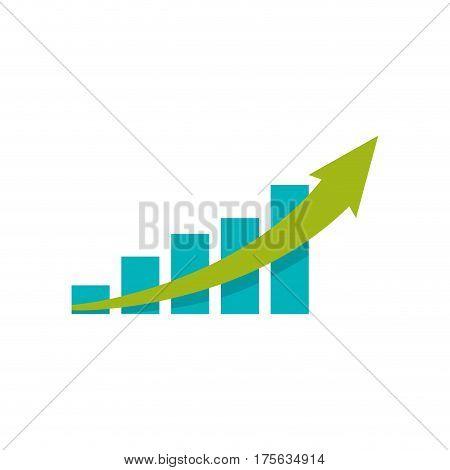 statistics bars growing icon vector illustration graphic design