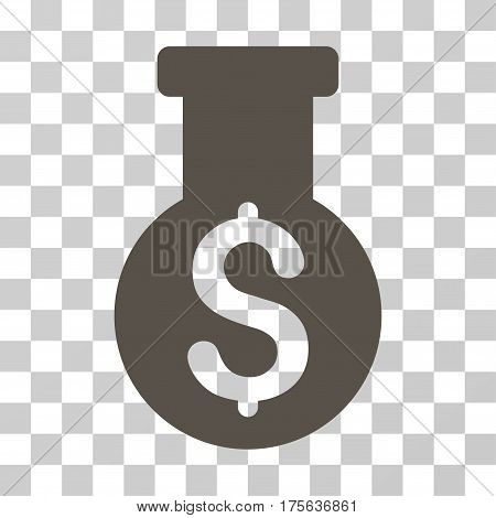 Financial Alchemy icon. Vector illustration style is flat iconic symbol grey color transparent background. Designed for web and software interfaces.
