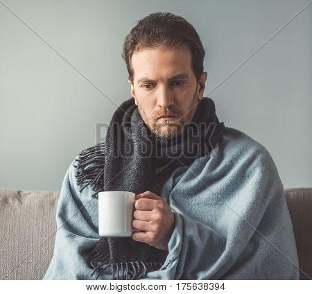 Sick Man At Home