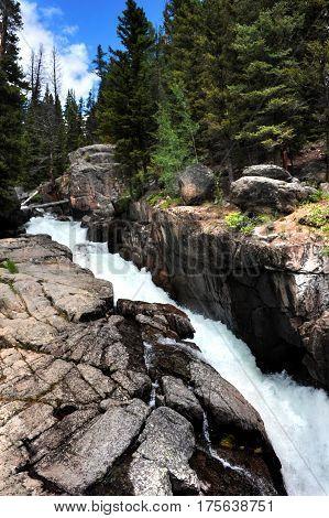 Rushing Water Of Lake Creek Falls