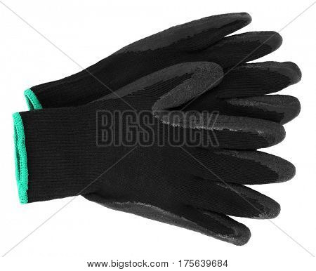Black protective gloves for gardening or other work