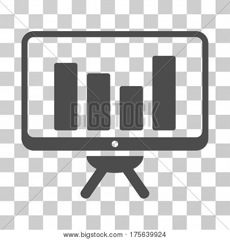Bar Chart Monitoring Board icon. Vector illustration style is flat iconic symbol gray color transparent background. Designed for web and software interfaces.