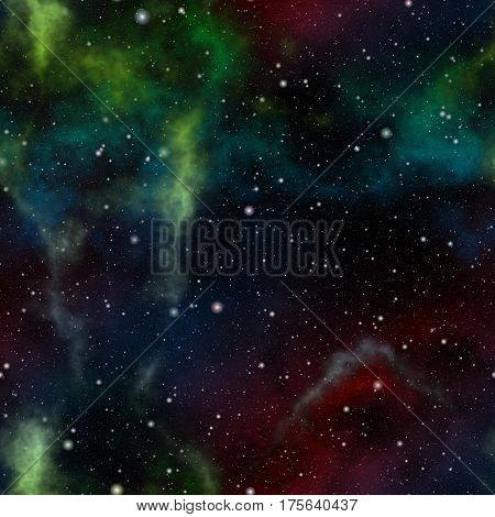 Abstract colorful universe, Nebula night starry sky, Multicolor outer space, Galactic texture background, Seamless illustration