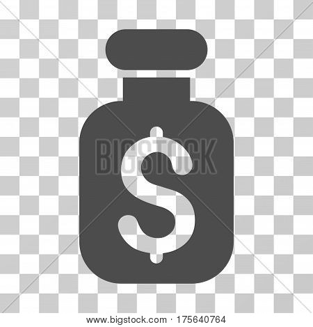 Business Remedy icon. Vector illustration style is flat iconic symbol gray color transparent background. Designed for web and software interfaces.