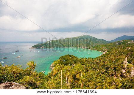 Aerial View Of The Beach Tropical Island