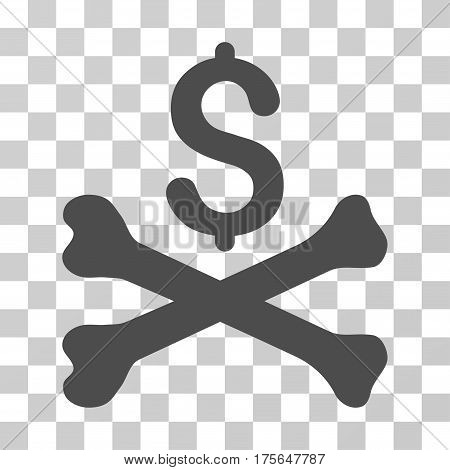 Mortal Debt icon. Vector illustration style is flat iconic symbol, gray color, transparent background. Designed for web and software interfaces.