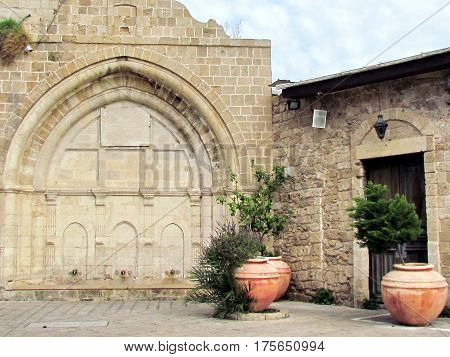The lower part of Al-siksik mosque in old city Jaffa Israel