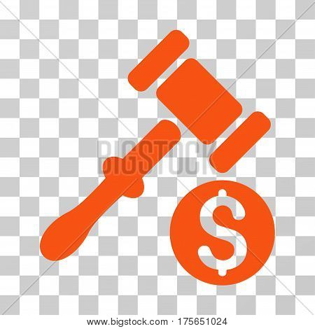 Auction icon. Vector illustration style is flat iconic symbol, orange color, transparent background. Designed for web and software interfaces.