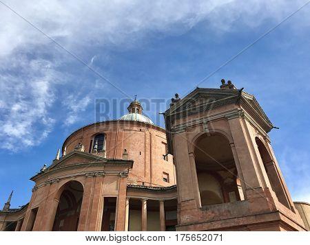 BOLOGNA - MARCH 7, 2017: Santuario Madonna di San Luca basilica church in Bologna, Italy.