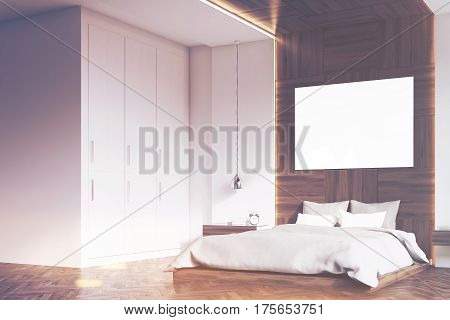 Bedroom With Picture, Wood, Side, Toned