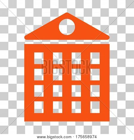 Multi-Storey House icon. Vector illustration style is flat iconic symbol, orange color, transparent background. Designed for web and software interfaces.