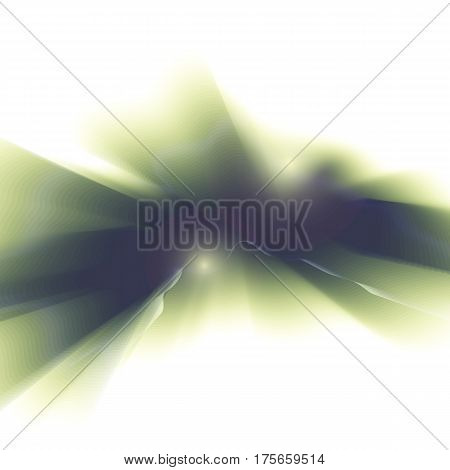 Vector green smooth blurry texture background. Abstract shining element.
