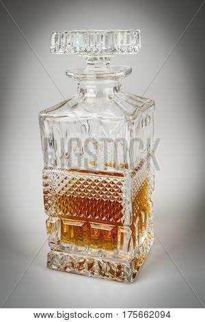 Whisky In Beautiful Glass Bottle, Rum, Bourbon, Cognac, Brandy, Glassware
