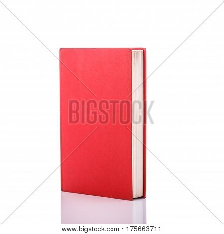 Old Book With Empty Blank Cover. Studio Shot Isolated On White