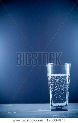 Small Water Bottle Clear Drinking Cold Mineral Water