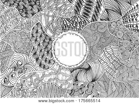 Sketchy vector hand drawn doodles, zen tangle, zen art patterns, objects and symbols